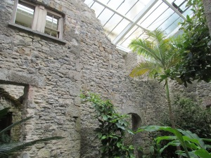 The Ninfarium is attached to the main house and provides shelter to tropical plants.