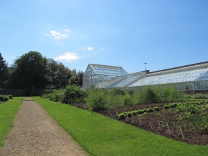 The Walled Garden and glasshouse.
