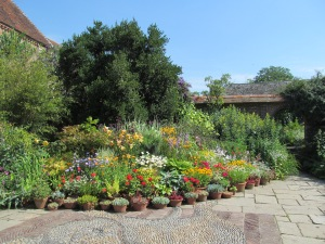 Impressive display of container planting at Great Dixter.