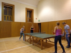 Table tennis is pretty big over here, with islanders meeting twice a week to play in the community centre. It's a pretty competitive sport over here - Phil and I were completely annihilated by the locals!