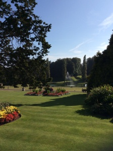 The famous Italian garden was one of the first parts of Bicton Park to be developed as an ornamental area.