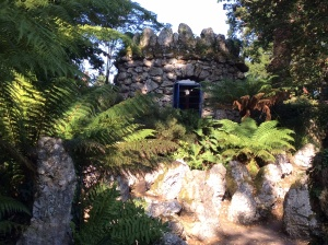 The shell house at Bicton is set within a rock garden