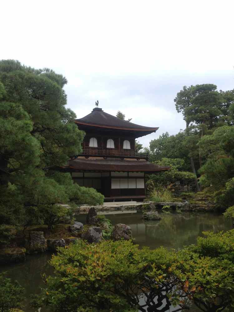 Ginkaku-ji, the Silver Pavillion. Founded more than 100 years after Kinkaku-ji, is much more subtle in its beauty.