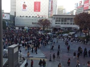 The classic Shibuya crossing.
