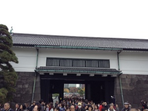 The masses of people allowed to enter the Imperial Palace compounds for only a few days per year!