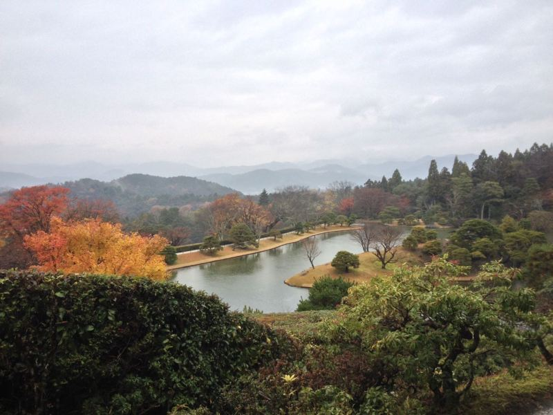 Shugakuin Imperial Villa. The strength of this garden is how it is located along the mountainside of Kyoto.