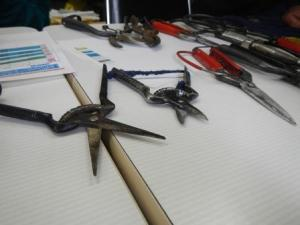 Hori-san had quite of traditional Japanese tools he quite proudly showed us.