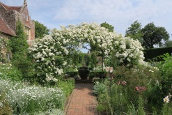 Rose arbor in the white garden