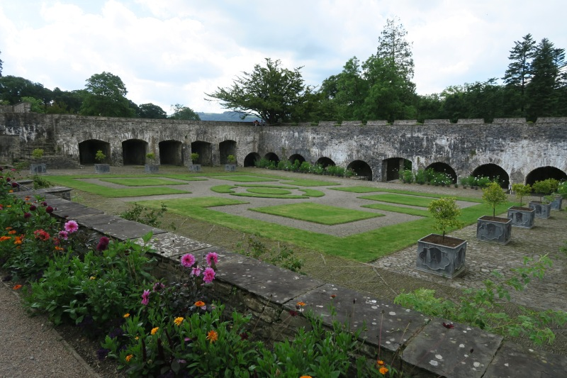 View of the main garden structure at Aberglasney. This is the part of the garden that was first discovered in ruin. Exactly what resided in this space originally is unknown