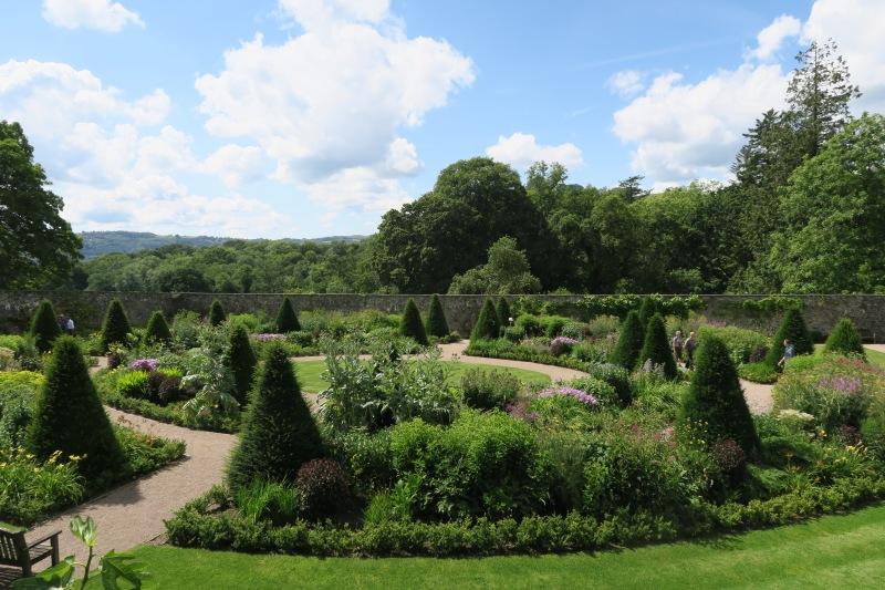 Upper walled garden