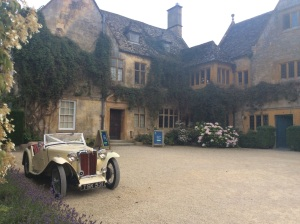 This classic car sat outside the Manor is now on a list of 'Needs.'