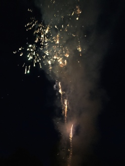 Our leaving-do even included a firework display. A great evening with dear friends