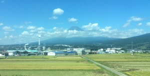 Mount Fuji seen from the Bullet Train, or Shinkansen, to Tokyo