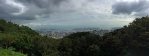 Looking over the city of Kobe from Mount Rokko, which sits to the North of the city.