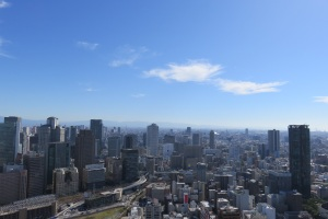 Our recent trip to Osaka provided quite a view...