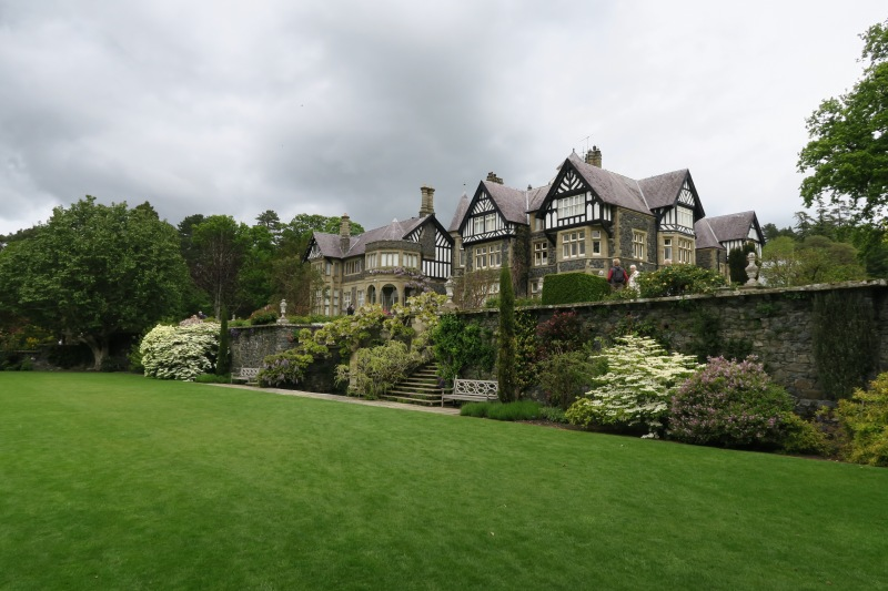 The mansion at Bodnant was framed by massive terraces displaying a collection of plants