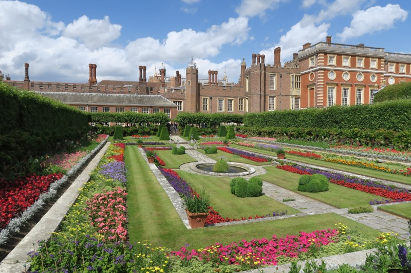 The gardens surrounding Hampton Court Palace, the residence of several Kings, shocked with their sheer size