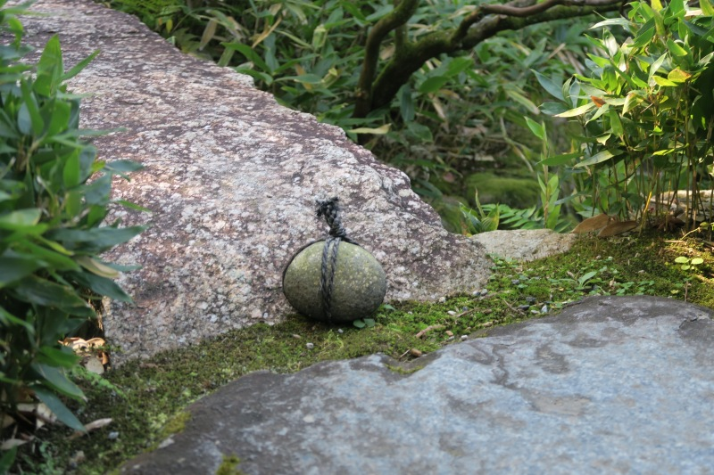 These rocks are frequently seen in gardens and politely signify that an area should not be entered