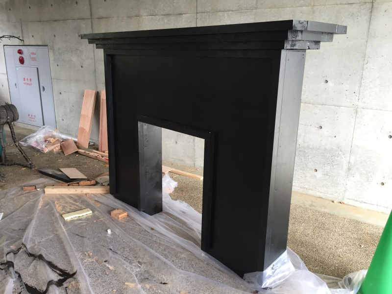 The mantle takes shape! While we would love to take credit for the construction of this, we have the team at Kiseki to thank for building this part for us. For the safety of everyone, it was best to leave the carpentry to the professionals!