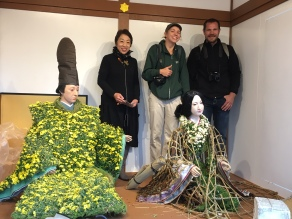 Posing with the mum dolls with Tomoko-sensei and Neil