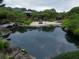 The pond garden - I think this was my favourite of the five gardens of Adachi
